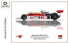 Coffee Mug 1977 McLaren M23 Ford #40 Gilles Villeneuve (CAN) by Guy Golsteyn