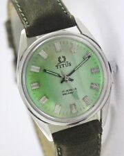 Titus refurbished vintage men's 100% working hand-winding swiss watch lot 2436