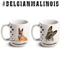 BELGIAN MALINOIS Shepherd Dog Breed Hashtag Mug Animal Funny Pet Gift Coffee Tea