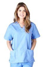Unisex Men/Women Scrub Top Medical Hospital Nursing 3 Pocket Scrub Top CHK101