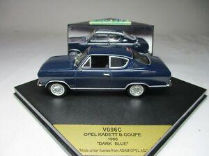 """Vitesse 1/43 Opel Kadett B Coupe 1966 """"Dark Blue"""" (V096C)"""