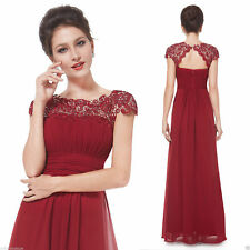 Ever-Pretty Lace Cap Sleeves Long Bridesmaid Dresses Evening Prom Dresses 09993