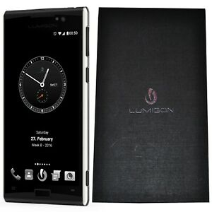 New Lumigon T3 128GB Black/Stainless Steel Dual-SIM Factory Unlocked 4G/LTE GSM