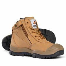 BRAND NEW Mongrel 461050 Work Boots. Steel Toe Safety. Zip-Sider, Scuff Cap