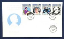 BAHAMAS - #580-583, SG 712/15  S/S on FDC - Queen Mother - 1985