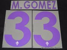 Fiorentina Gomez 33 2013/14 Football Shirt Name/Number Set Kit Away Serie a