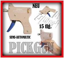 16tlg.SEMI-automatic Pickgun Pick gun Lock Schloss knacken Dietrich pickset tür
