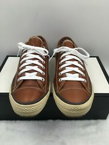 Converse Chuck Taylor All Star 126814C Brown Leather Sneakers Shoes Men's Sz 8.5