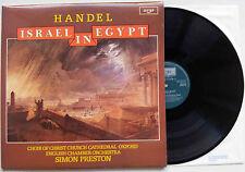 SIMON PRESTON HANDEL Israel In Egypt 1976 UK Argo 2LP g/fold NM