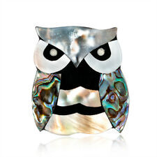 Originality Women Seashell Material Owl Brooch Pin Corsage Accessories Jewelry