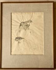 ORIGINAL signed & dated 1962 pencil, ink & wash DRAWING by Jose Luis CUEVAS