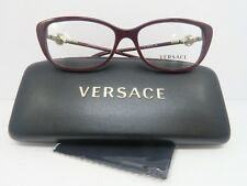 Versace Women's Burgundy Glasses with Case 54mm MOD 3206 5105