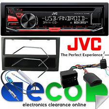Vauxhall Meriva A 05-09 JVC AUTO STEREO CD MP3 Usb Y Kit De Volante Negro