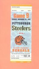 Cincinnati Bengals at Pittsburgh Steelers 1997 NFL ticket stub