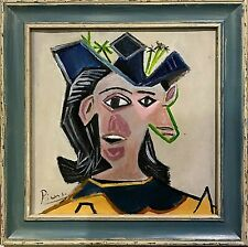 Pablo Picasso - framed oil portrait painting