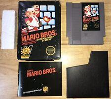 SUPER MARIO Bros NES BLACK BOX 5-Screw Game Cart Nintendo 1985 WORKING! NICE!