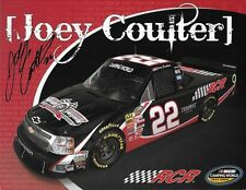 "SIGNED 2011 JOEY COULTER ""RCR NO PIC OF JOEY"" #22 NASCAR TRUCK SERIES POSTCARD"
