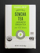 TRADER JOE'S   Organic SENCHA Tea   Japanese Green Tea   20 Bags
