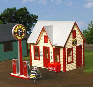 American Model Builders O Scale  American Gas Station Kit #492 Bob The Train Guy