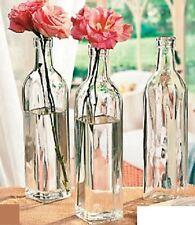 "Long Stem Flower Bottle Vases Clear Glass Vase Jars Table Display 3-Pcs 10.5""H"