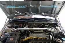 97-01 Honda Prelude BB5-BB9 Silver Carbon Strut Hood Shock Gas Lift Damper Kit