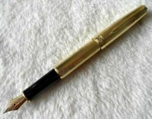 Perfect Parker Pen Golden Star 0.5mm Medium Nib Sonnet Series Fountain Pen