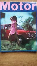 THE MOTOR MAGAZINE 5/8/67 Featuring Triumph 2000, Honda S 800, Cars Of Japan