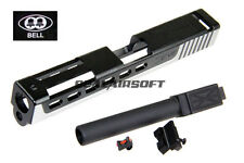 BELL Custom Slide ZEV Type For Marui G17 Toy GBB (2 Tone / Black Barrel) Type2