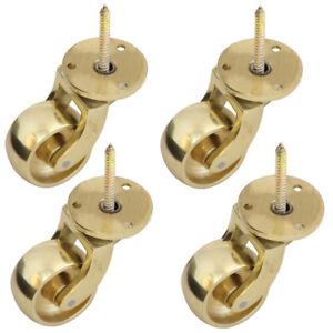 Screw Castors - BRASS + 28mm Diameter | Set of 4 Pieces