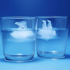 2Pcs Polar Bear Penguin Jelly Chocolate Ice Cube Silicone Mold Maker Mould Sala