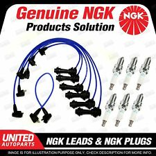 6 x NGK Spark Plugs + Ignition Leads Set for Toyota Supra JZA80R 3.0L 6Cyl