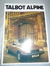 Talbot Alpine brochure Sep 1980