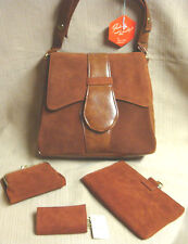 MIB Vintage VIRGIN ISLANDS HANDBAG & Matching 3 Pc ACCESSORIES SET