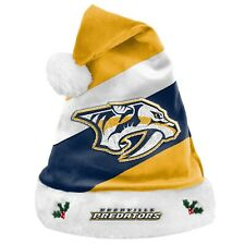 Nashville Predators Team Big Logo Holiday Plush Santa Hat NEW Christmas NHL SH19