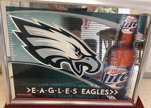 "Philadelphia Eagles 27x21"" Miller Lite Mirror"