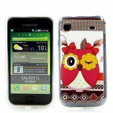Samsung Galaxy S1 i9000 9001 Silikon Case Schutz Hülle Etui Cover Blink Eule Owl