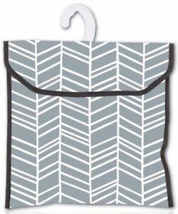 Minky Premium Waterproof Durable Peg Storage Bag with Hanging Hook - Grey