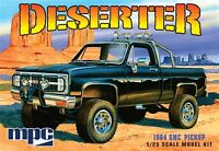 MPC Deserter 1984 GMC 4x4 Pickup Truck molded black 1/25 model car kit new 848