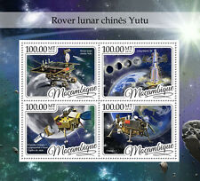 Mozambique 2016 MNH China's Yutu Moon Rover 4v M/S Long March 3B Space Stamps