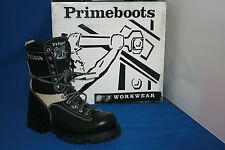 Prime Boots logger stiefel gr. 38  leder  schwarz   weiß  design  fashion