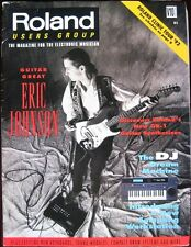 ROLAND USERS GROUP Magazine ERIC JOHNSON GR-1 DJ-70 AX-1 SP-700 ep-9 JW-50 TD-7