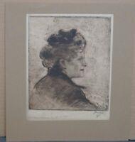 Bernhard Pankok (Münster 1872 - 1943 Baierbrunn) - Frau im Profil