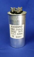 30+5uf 450 Volt Handing Round Dual Run Capacitor, CBB65-30+5, 440-305DR