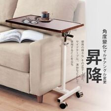 Rolling Laptop Table Reading Desk Adjustable Height - Bedside Tray Podium Stand