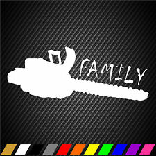 Chainsaw Stickers Decal Car Truck Window Bumper Vinyl Graphic Saw Is Family