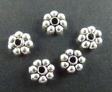 1000pcs Tibetan Silver Daisy Spacer Beads 4.5x1.5mm 991