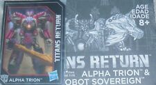 Transformers Titans Return ALPHA TRION Card Manual Parts Lot
