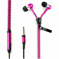 3.5mm In-Ear Zip Zipper STEREO Hands Free Headphones Headset + Mic Earphones