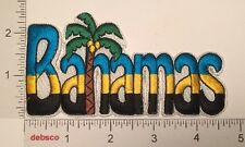 BAHAMAS Flag Colors COCONUT PALM TREE Travel Souvenir PATCH