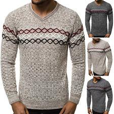 Suéter Sweater chaqueta de punto jersey de punto fino truco V-Neck señores ozonee 31